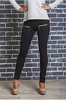 Лосины брюки женские коричневая клетка