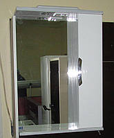 Зеркало З-01ВР-60 белое (600*165*705) правое с подсветкой, ТМ Николь