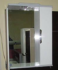 Дзеркало З-01ВР-60 біле (600*165*705) праве з підсвічуванням, ТМ Ніколь