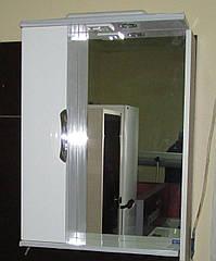 Дзеркало З-01ВР-60 біле (600*165*705) ліве з підсвічуванням, ТМ Ніколь