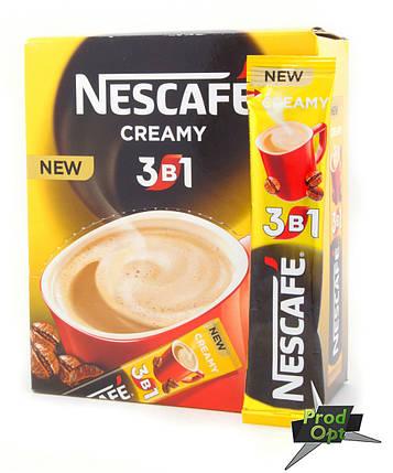 Кава розчинна Нескафе 3в1 СRЕМY 20 стіків , фото 2