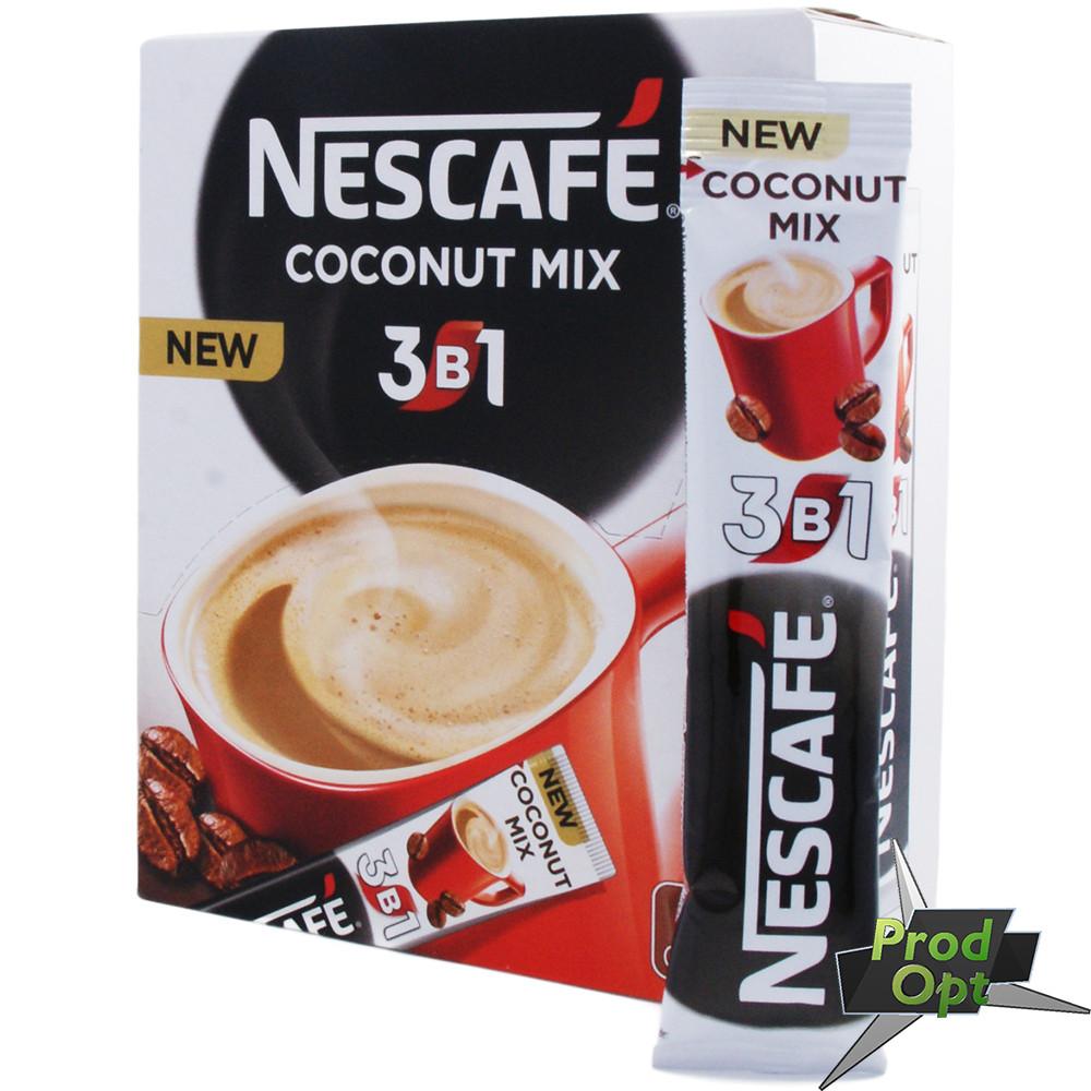 Кава розчинна Нескафе 3в1 кокос, 20 стіків