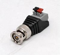 Коннектор BNC металлический с самозажимной колодочкой