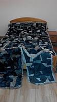 Комплект покрывало и дорожки из шкурок тосканских ягнят