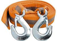 Трос буксирувальний 5 тонн, 2 крюка, пакет, STELS 54375