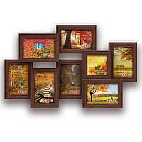 Мультирамка-коллаж Эллада на 8 фотографий цвет коричневая