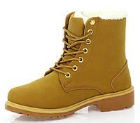 Зимние  ботинки на шнурках для девушек размеры 38-40