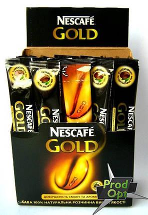 Кава розчинна Нескафе Голд 25 стіків, фото 2