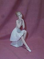 Балерина фарфоровая оригинальная статуэтка фигурка 13 сантиметров высота