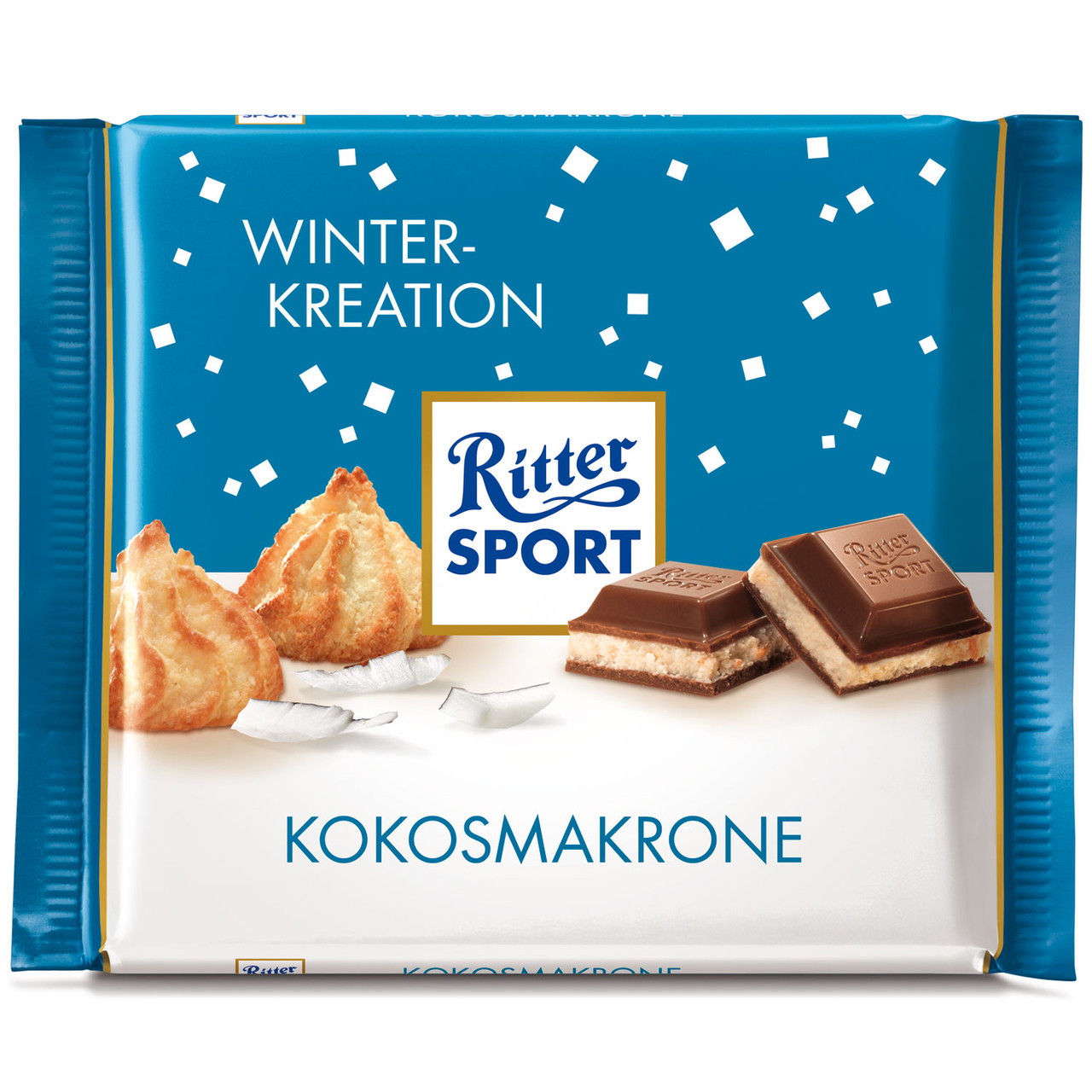 Шоколад Ritter Sport KokosMakrone Winter Kreation (Риттер Спорт), 100 г