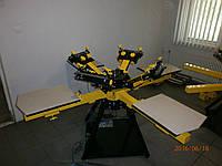 Карусельный шелкотрафаретный станок 4 * 4 (КШС 4.4 - 03)