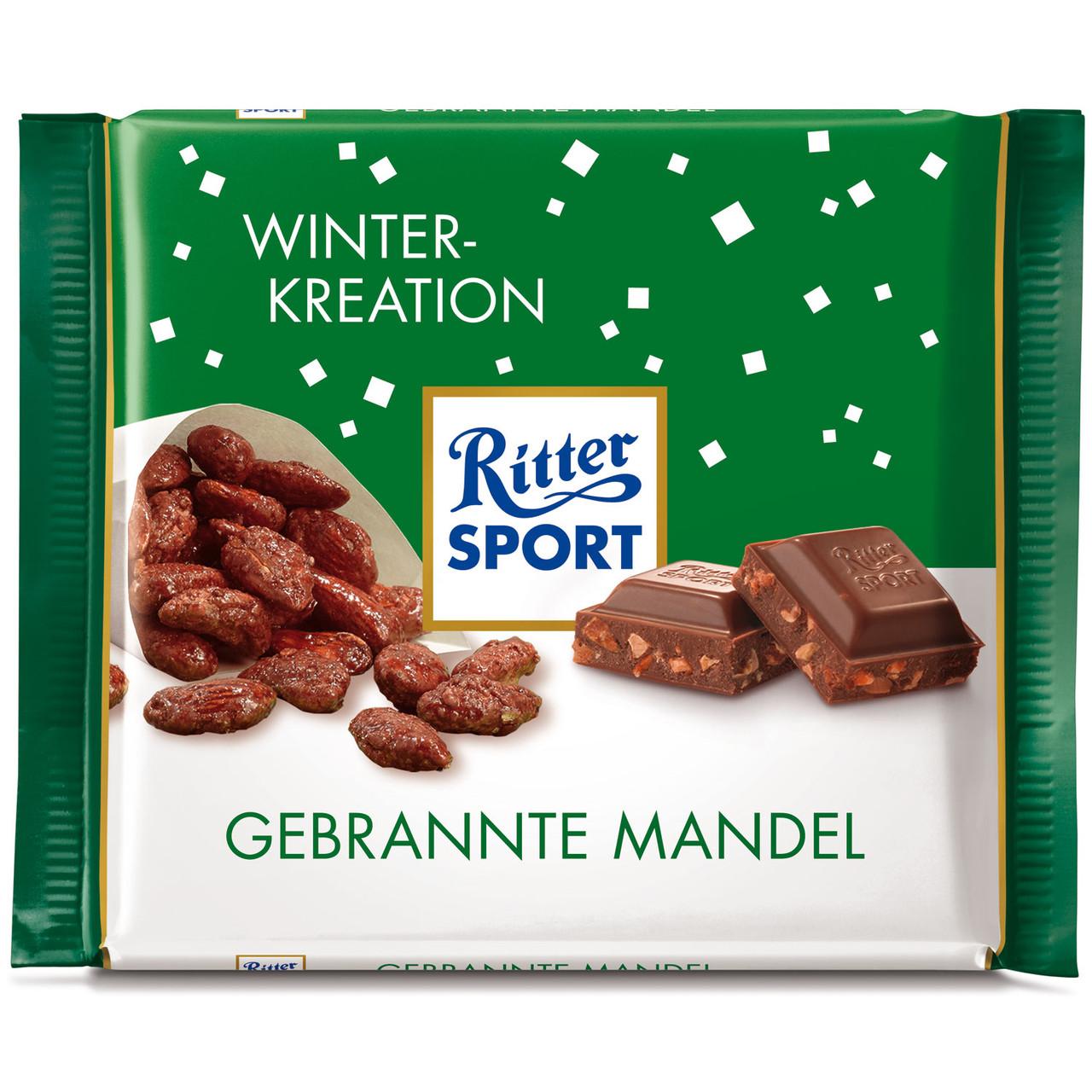 Шоколад Ritter Sport Gebrannte Mandel (Риттер Спорт миндаль в карамели), 100 г