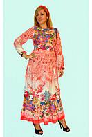 Летнее платье с народными мотивами