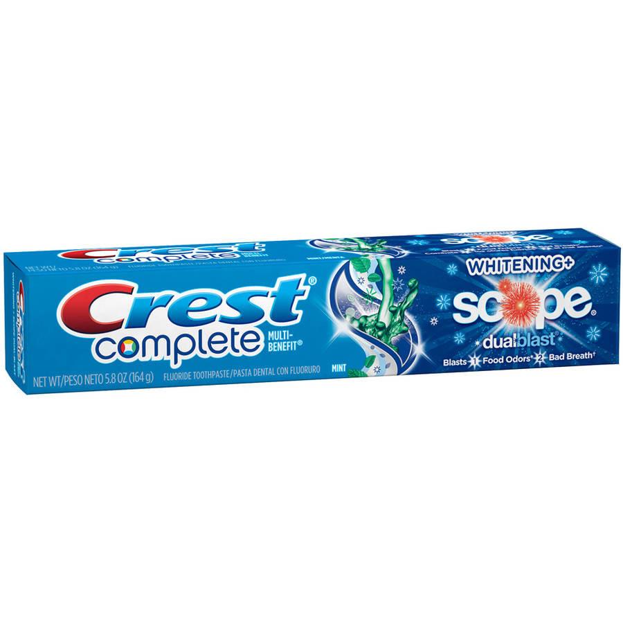 Crest Complete Multi-Benefit Whitening Scope Dualblast - Отбеливающая зубная паста, 164 г