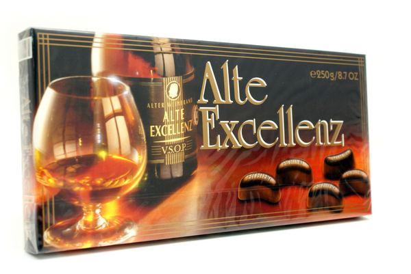 Шоколадные конфеты Alte Excellenz с бренди, 250 гр.