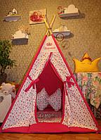 """Детский игровой домик, вигвам, палатка, шатер, шалаш """"Розы"""""""