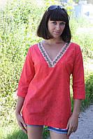 Летняя блуза из батиста