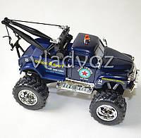 Машинка Chevrolet wrecker 1:38 метал синяя эвакуатор