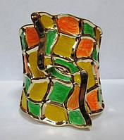 Браслет мозаика желто- салатовый 8121
