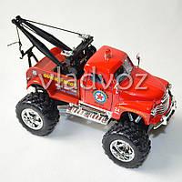 Машинка Chevrolet wrecker 1:38 метал красная эвакуатор