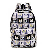 Темный городской рюкзак Котейки. Оригинальный яркий принт. Высокое качество. Купить онлайн. Код: КДН1075