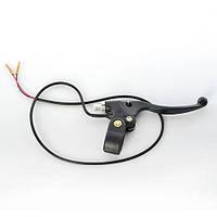 Универсальная ручка тормоза левая с датчиком для детских миниквадроциклов 24V\36V\49cc