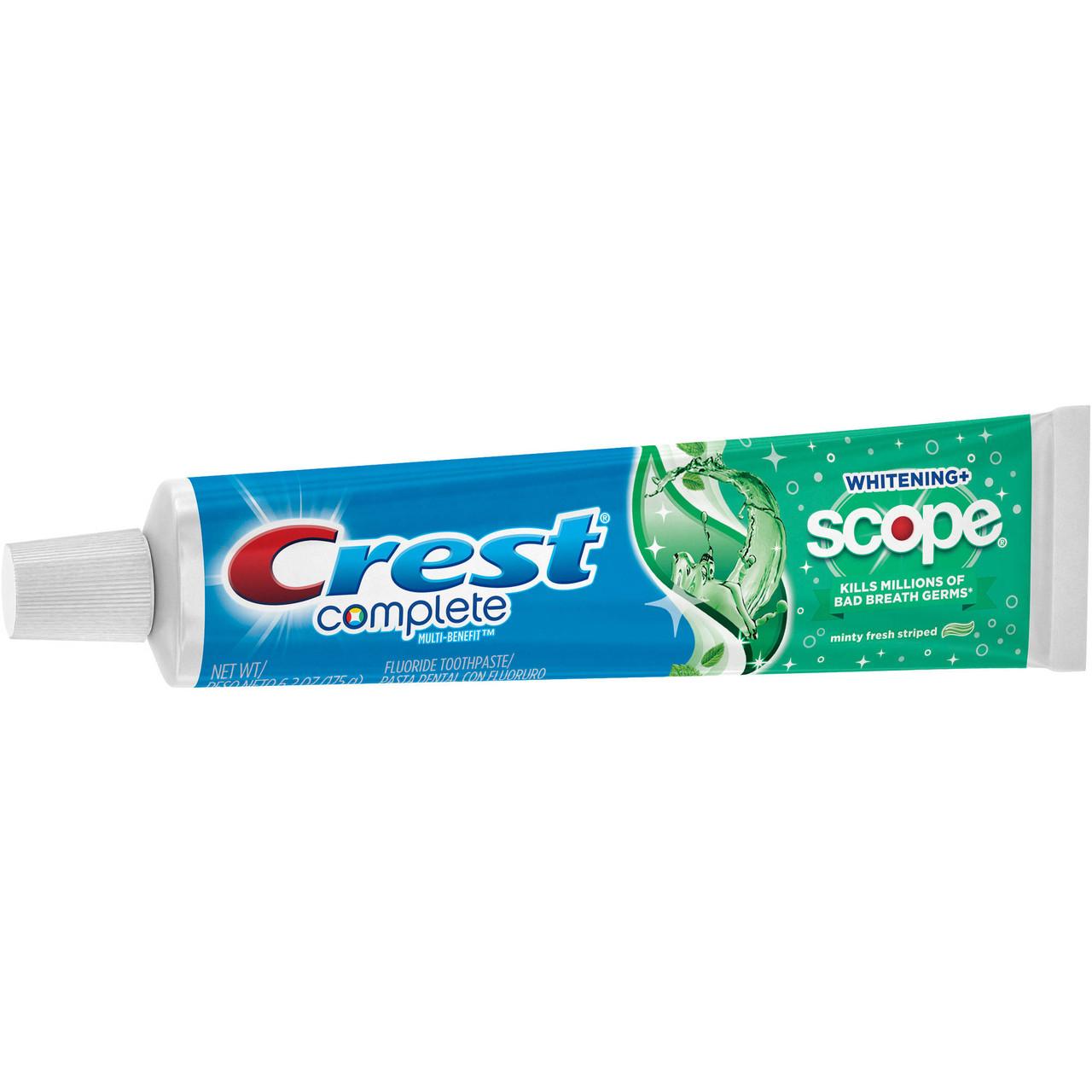 Crest Complete Multi-Benefit Whitening Scope Minty Fresh Striped - Отбеливающая зубная паста, 175 г