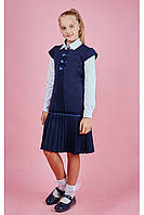 Школьний сарафан с юбкой плиссе