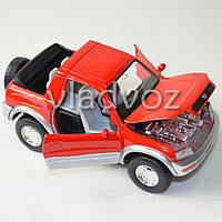 Машинка Toyota rav4 метал 1:36 красная