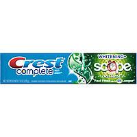 Crest Complete Multi-Benefit Whitening Scope Outlast - Отбеливающая зубная паста, 215 г