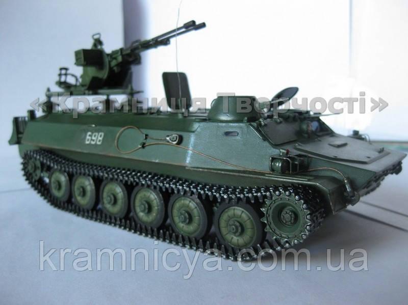 Сборная модель: танк MT-LB с зенитной установкой ZU-23-2, фото 1