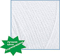 Пряжа для вязания Валенсия Бамбино (Valencia Bambino), 0601 (white) цвет,  ЧМ 1056740