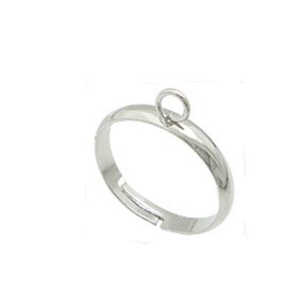 Основа для кольца 1 петля Серебро 3 мм 1 шт