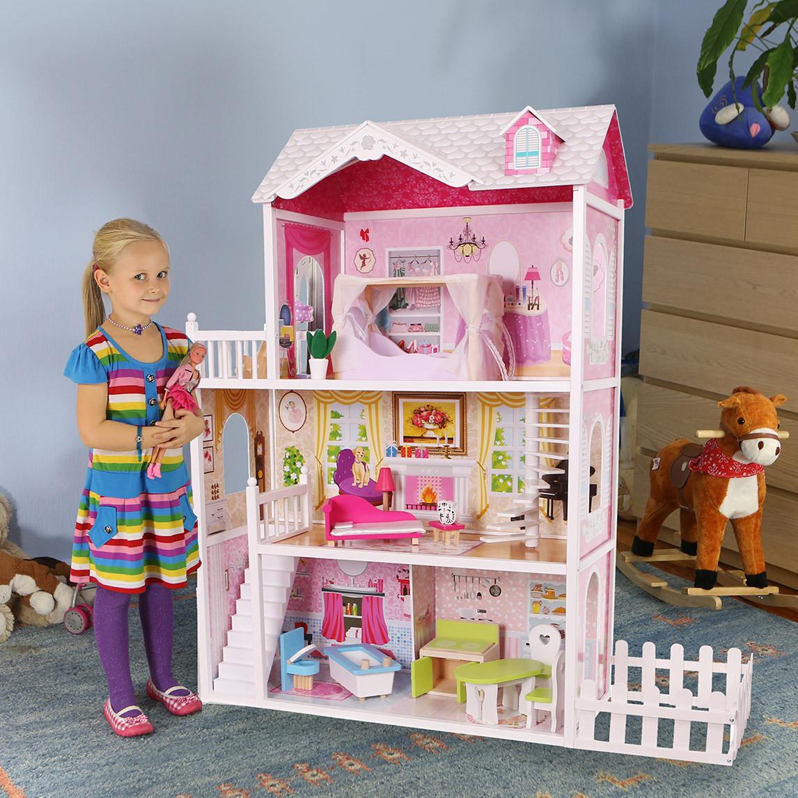 Дом для кукол барби с забором CALIFORNIA ECOTOYS, фото 1