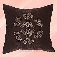 Наволочка с вышивкой Украина Н0610 Нежность коричневая 40х40 см наволочка