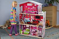 Дом для кукол барби  c лифтом Malibu ECOTOYS