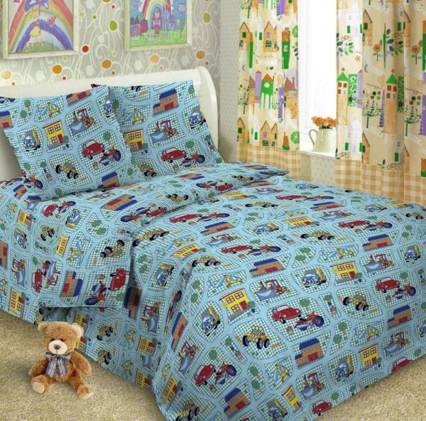 Детское постельное белье Автогород поплин