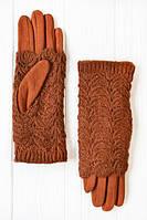 Стильные женские перчатки с вязкой