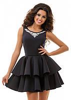 Стильное  платье с вышивкой 42,44,46