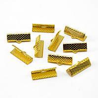 Зажим для лент 2.5 см Золото 10 шт/уп