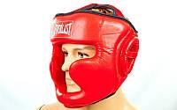 Шлем боксерский с полной защитой Everlast PU BO-6001-R