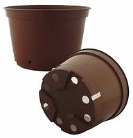 Горшки пластиковые, круглые для растений d21,0 h19,0 v4,5, фото 1