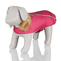"""Попона Trixie 28470 """"Vienne"""" для собак красная с меховым воротником, фото 1"""
