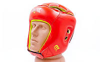 Шлем боксерский открытый Кожа красный MATSA MA-4002-M(R)