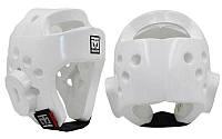 """Шлем для таеквондо белый PU MOOTO BO-5094-W (р-р """"S"""")"""