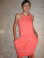 "Сарафан ""SMILE "" коралл. Детская одежда оптом. Коллекция лето 2013, фото 1"