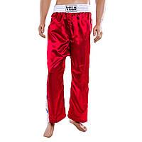 Брюки для кик-бокса красные Velo 9016-LR
