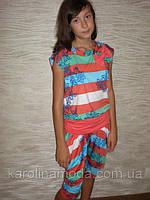 """Костюм """"Полоска капри"""" красная. Детская одежда оптом. Коллекция лето 2013, фото 1"""