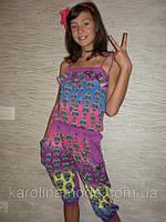 """Костюм """"Черепки  капри"""" сирень. Детская одежда оптом. Коллекция лето 2013"""