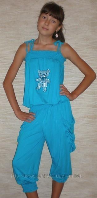 """Комбинезон капри """"Зайчик"""" 3001 (голубые). Детская одежда оптом. Коллекция лето 20132"""